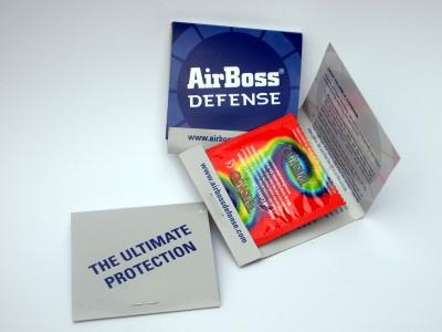 Air Boss Defense condoms given free to arms dealers