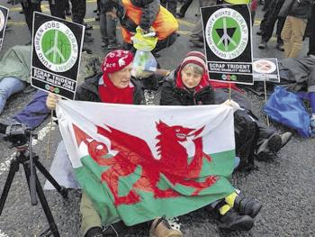 Wales in Scotland  Photo: twitter user @ScrapTrident